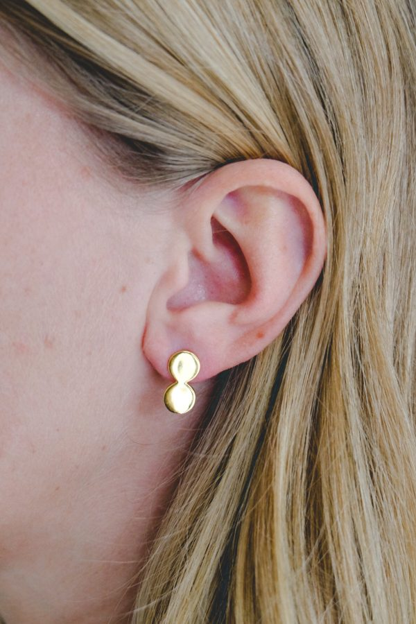 gold plated oorbellen