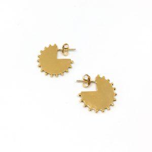 Stijlvolle gold plated oorbellen