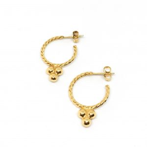 Gold plated hoops oorbellen