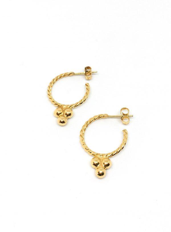 Gold plated hoops oorbellen