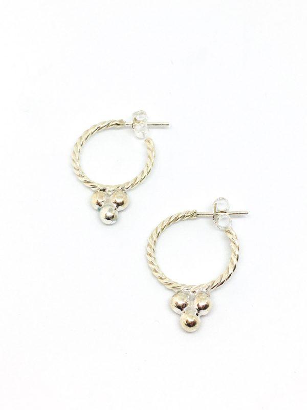 Zilveren hoops oorbellen