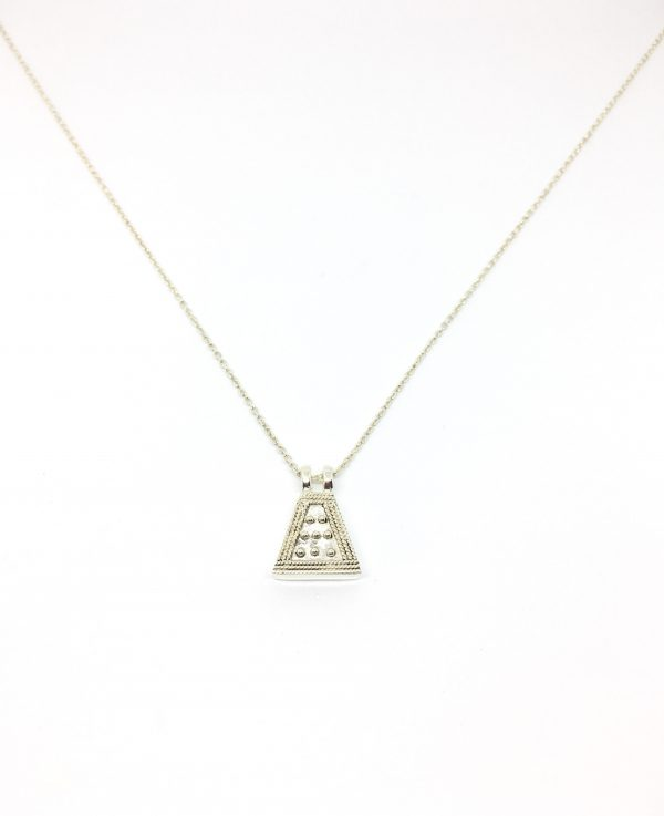 Hidden triangle necklace - silver