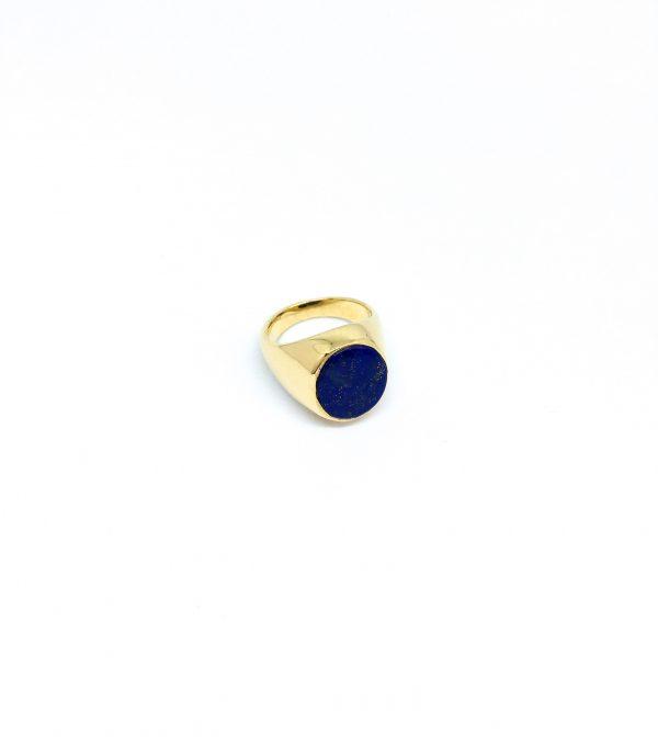 Ring met blauwe edelsteen