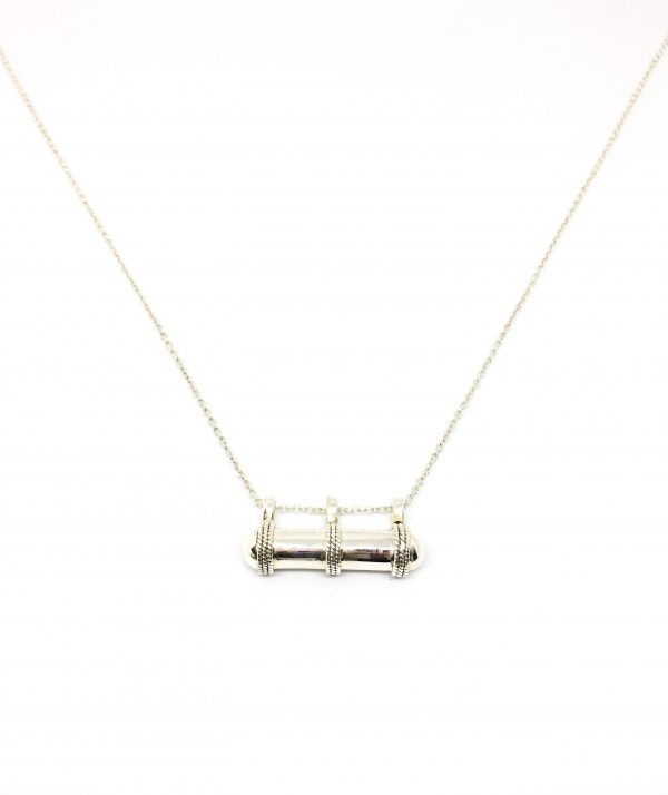 Wish Tube necklace - silver
