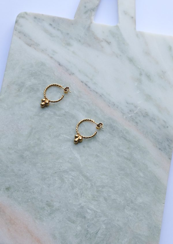 vintage hoops gold plated