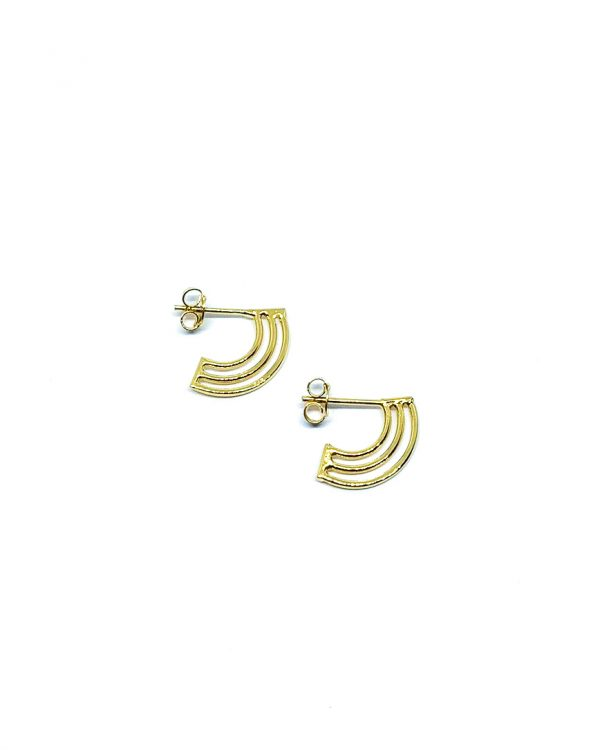 Rainbow earring gold